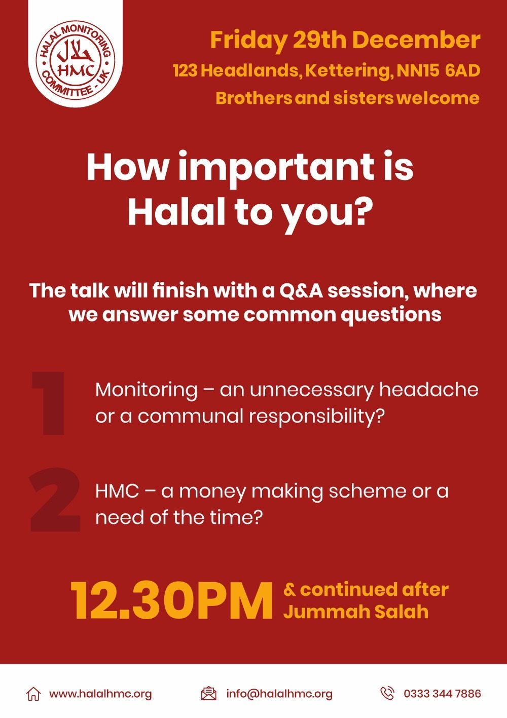 How important is Halal to you? - Halal Monitoring Committee